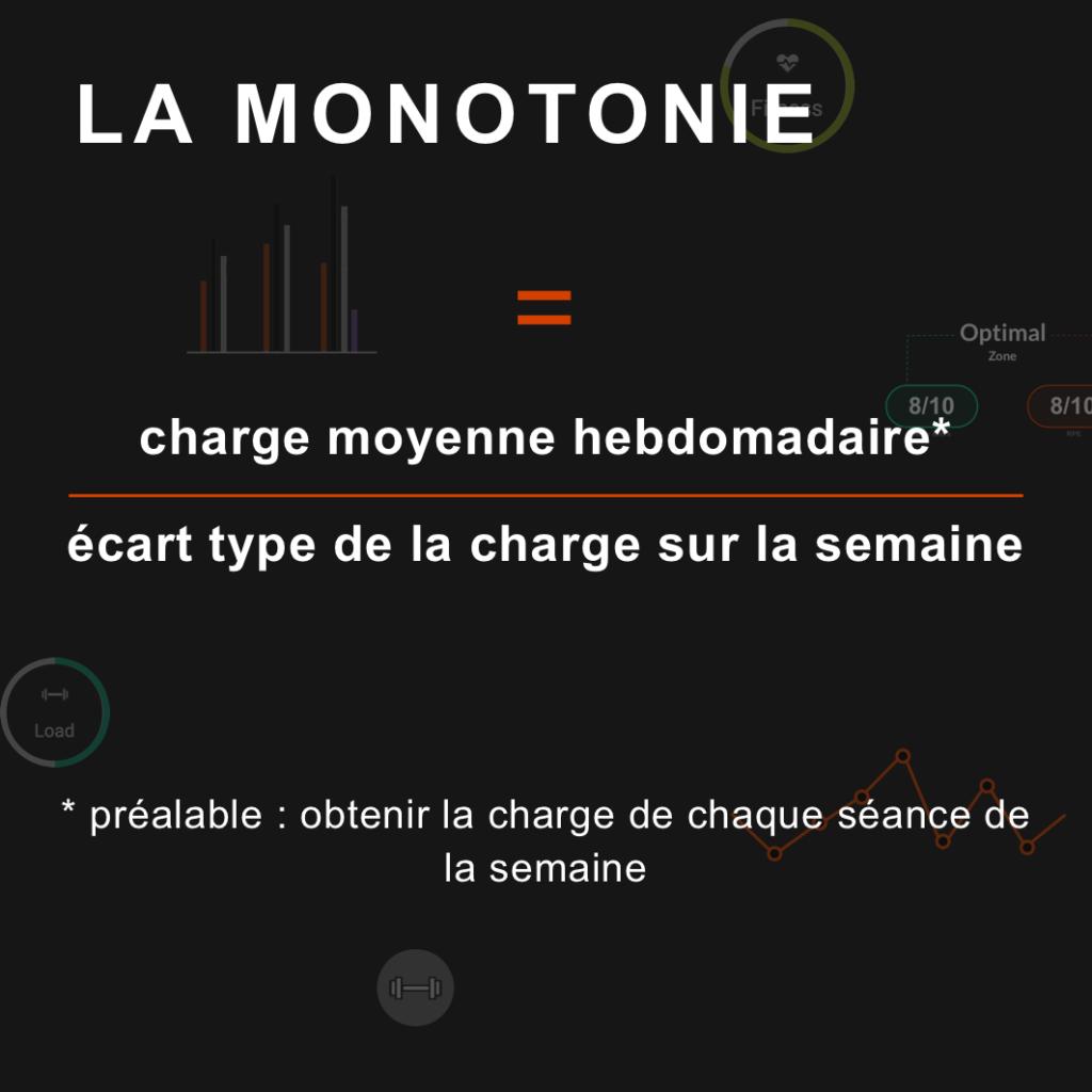 calcul de la monotonie
