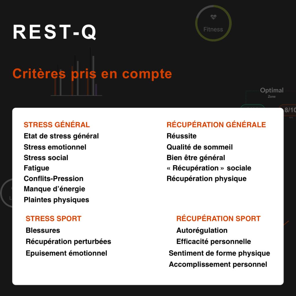 critères du rest-q